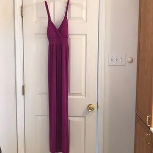 MSK purple maxi dress